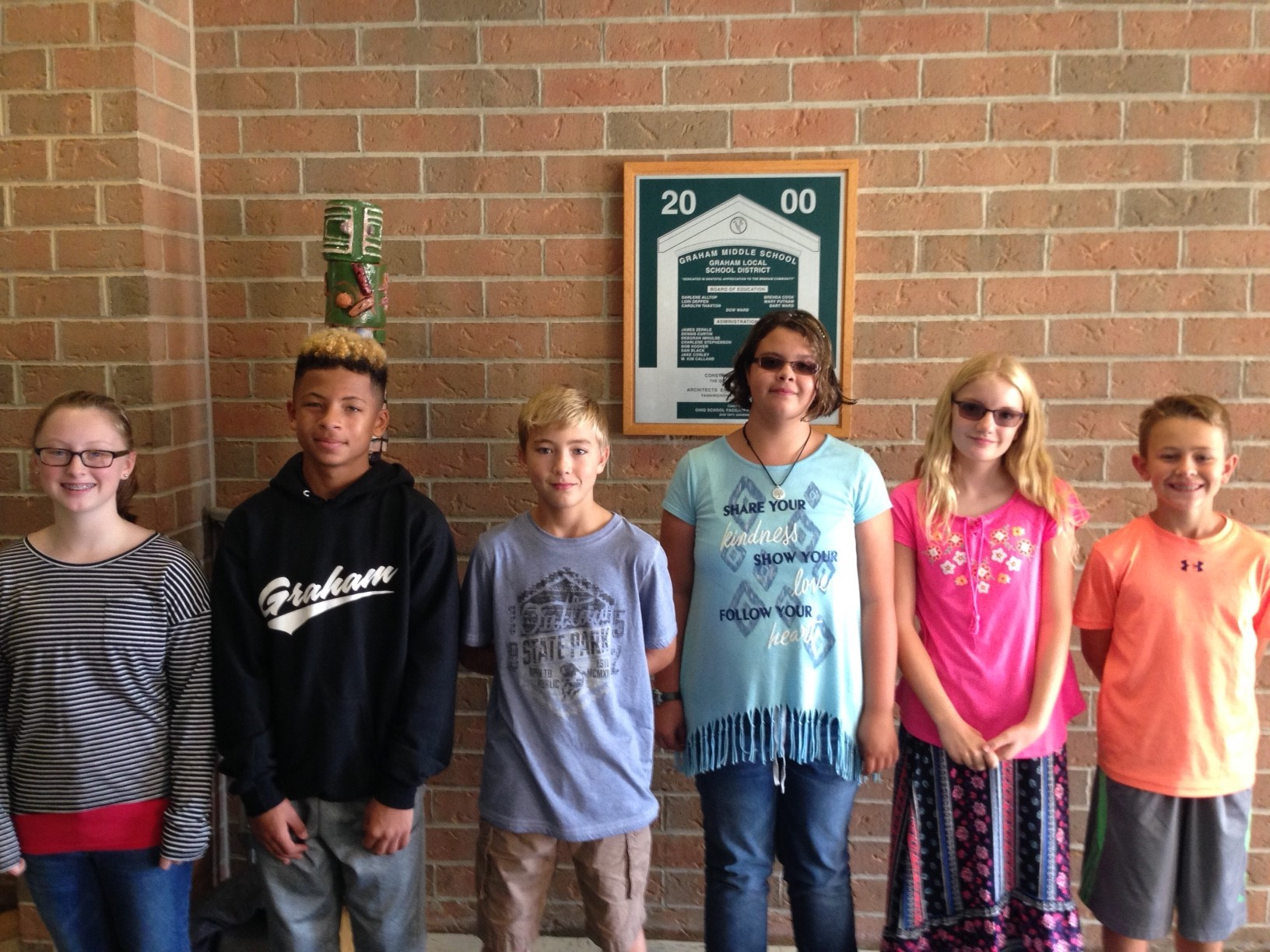September 2016 Students of the Month