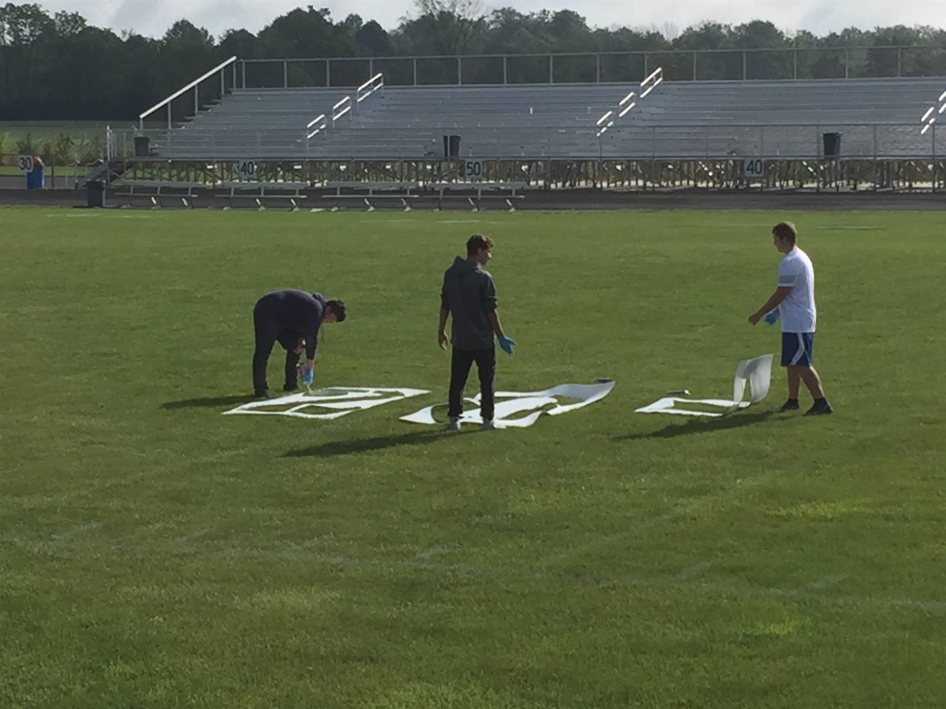 Painting football field