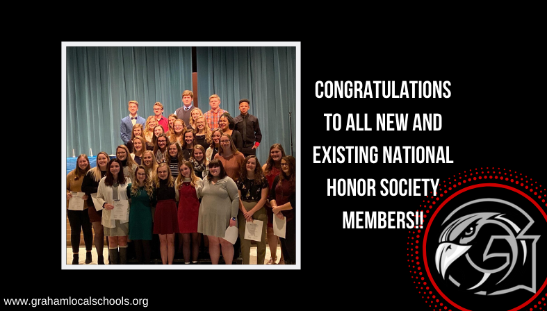 Congratulations to all new and existing NHS members