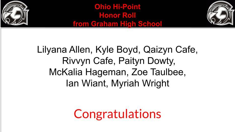 OHP-Honor Roll